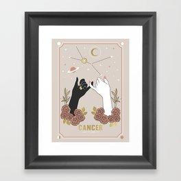 Cancer Zodiac Series Framed Art Print