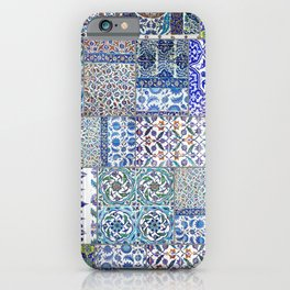 "Travel Photography ""Iznik ceramics in blue, red and teal pattern"" Istanbul, Turkey.. Photo print. iPhone Case"