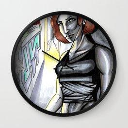 Alleyway Lurker Wall Clock