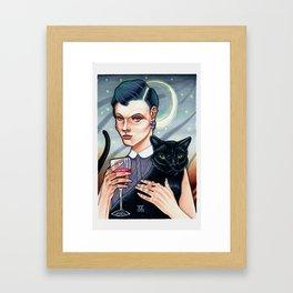 Girl's Night In Framed Art Print