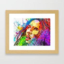 B. Marley Grunge Framed Art Print