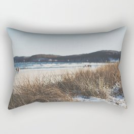 Strandspaziergang in Binz. Rectangular Pillow