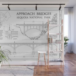 Approach Bridges - Generals Highway, Three Rivers, Tulare County, CA Wall Mural