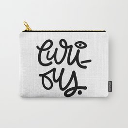 Just Curious - Black 'n White Carry-All Pouch