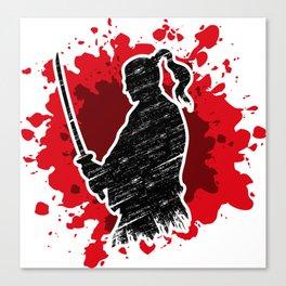 Samurai red Canvas Print