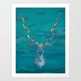 Blue Antelope Art Print