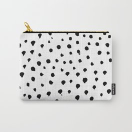 Dalmatian dots black Carry-All Pouch