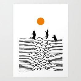 Good Morning Meow 2 - Joy Art Print