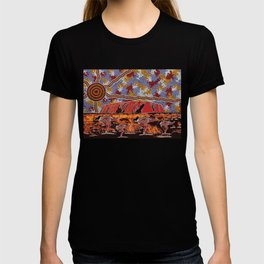 Uluru (Ayers Rock) Authentic Aboriginal Art T-shirt