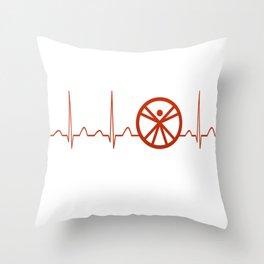 Anthropologist Heartbeat Throw Pillow