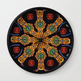 Gold Mandala Black Wall Clock