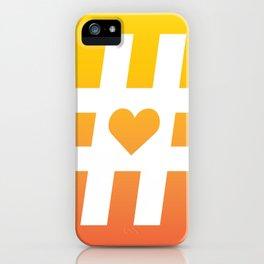 Hashtag Heart iPhone Case