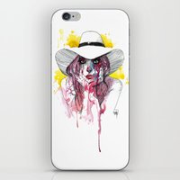 cassandra jean iPhone & iPod Skins featuring Jean by BRÄO