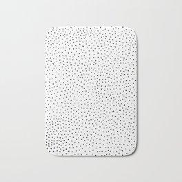 Dotted White & Black Bath Mat