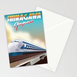 Shinagawa Japan travel poster Stationery Cards