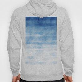 Blue Waves Watercolor Hoody