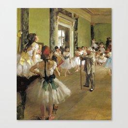 Edgar Degas The Dance Class Canvas Print