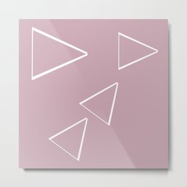 Triangle art sketching Metal Print