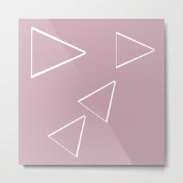 Triangle art sketching Metal Print