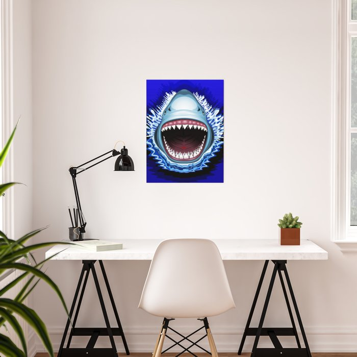 Shark Jaws Attack Poster