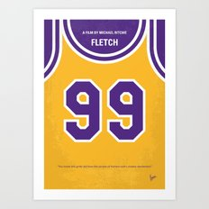 No533 My Fletch minimal movie poster Art Print