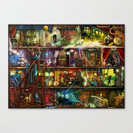 The Fantastic Voyage - a Steampunk Book Shelf Canvas Print