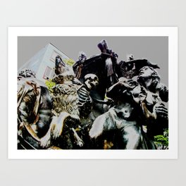 Working with Statues  Art Print