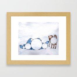 Fractal Dog & Polar Bear Framed Art Print