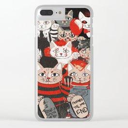 Horror Maneki Neko Vintage Gang Halloween Party 2019 T-Shirt Clear iPhone Case