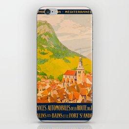 Vintage poster - Route du Jura, France iPhone Skin