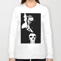 punisher Long Sleeve T-shirts featuring Inktober Punisher by MeatyElbow