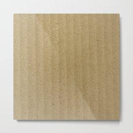 Texture #20 Cardboard Metal Print