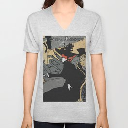 After Lautrec - Divan Japonais Unisex V-Neck