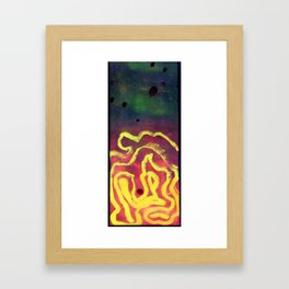 In the labirinth Framed Art Print