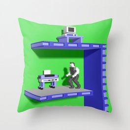Inside Impossible Mission Throw Pillow