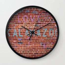 Love Kalamazoo Wall Clock