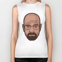 walter white Biker Tanks featuring Walter White by Michael Walchalk