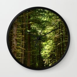 On A Road To The Rainforest Wall Clock