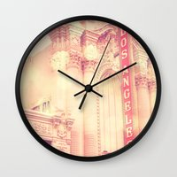 theatre Wall Clocks featuring Los Angeles Theatre photograph by Myan Soffia