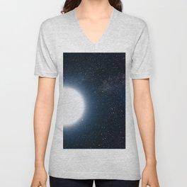 Bright Planet Blue Moon Unisex V-Neck
