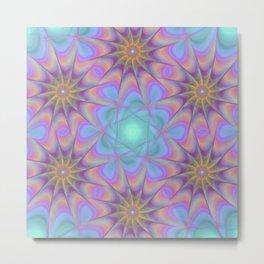 New Abstract Mandala Metal Print