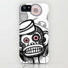 Creepy Cymbal-banging Monkey iPhone Case