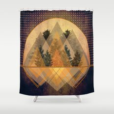 try again tree-angles mountains Shower Curtain
