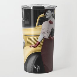 Lady In Red Travel Mug