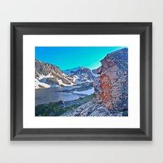Froze To Death Lake Framed Art Print