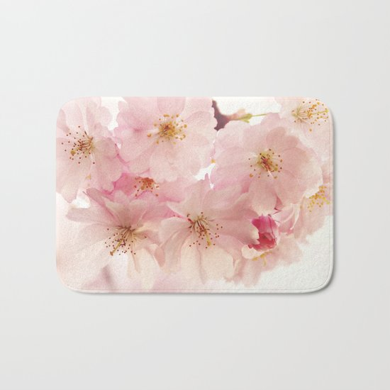 cherry blossoms- In memory Bath Mat