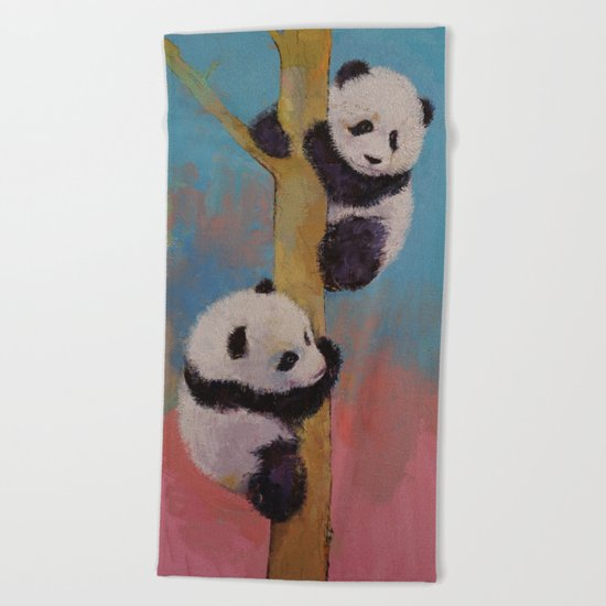 Panda Fun Beach Towel