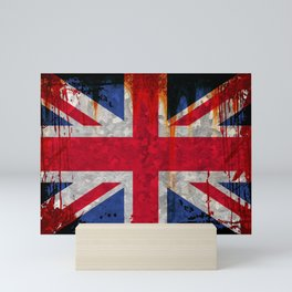 Paint splattered Union flag Mini Art Print