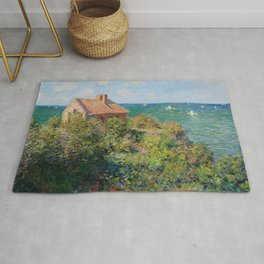 Fisherman's Cottage on the Cliffs at Varengeville Claude Monet Rug