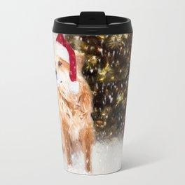 A Retriever kind of Christmas Travel Mug
